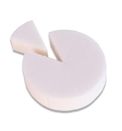 Latex grimeerspons rond (8 puntjes)